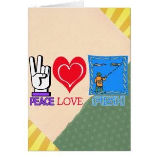 PEACE LOVE FISH GREETING CARD