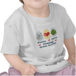Peace Love Fishing With Daddy Infant T shirt