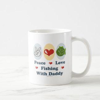 Peace Love Fishing With Daddy Coffee Mug