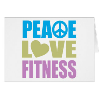 Peace Love Fitness Cards