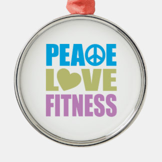 Peace Love Fitness Christmas Ornament