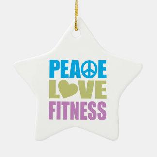 Peace Love Fitness Christmas Ornament