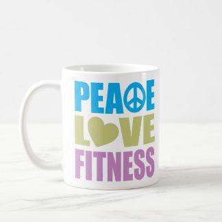 Peace Love Fitness Coffee Mugs