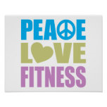 Peace Love Fitness Poster
