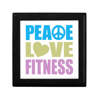 Peace Love Fitness Small Square Gift Box