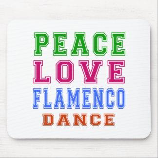 Peace Love Flamenco Dance Mouse Pad