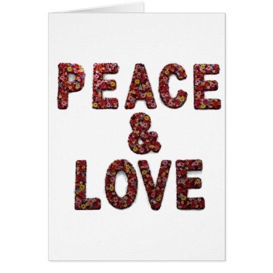 Peace & Love Flower Christmas Holiday Card