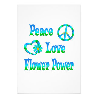 PEACE LOVE FLOWER POWER ANNOUNCEMENT