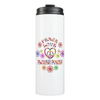 Peace Love Flower Power Thermal Tumbler