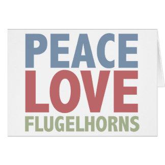 Peace Love Flugelhorns Cards