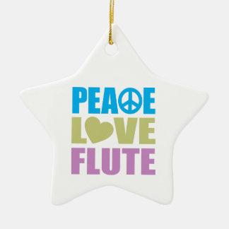 Peace Love Flute Christmas Tree Ornament