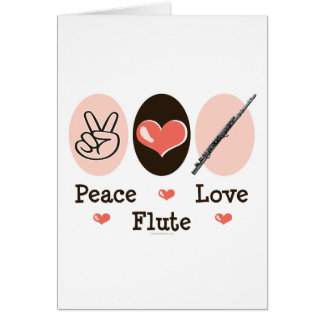 Peace Love Flute Greeting Card