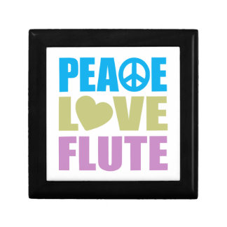 Peace Love Flute Small Square Gift Box