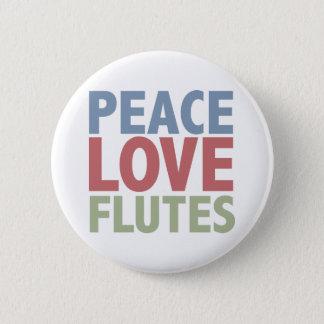 Peace Love Flutes 6 Cm Round Badge