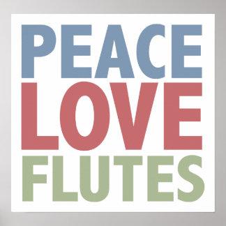 Peace Love Flutes Print