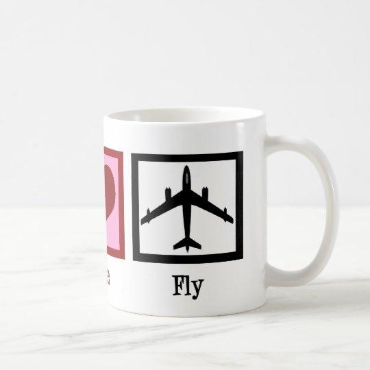 Peace Love Fly Coffee Mug
