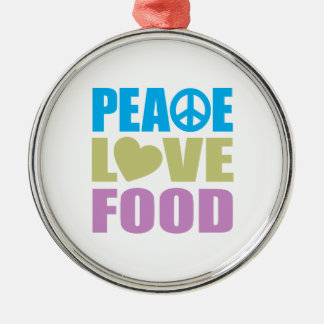 Peace Love Food Christmas Ornament