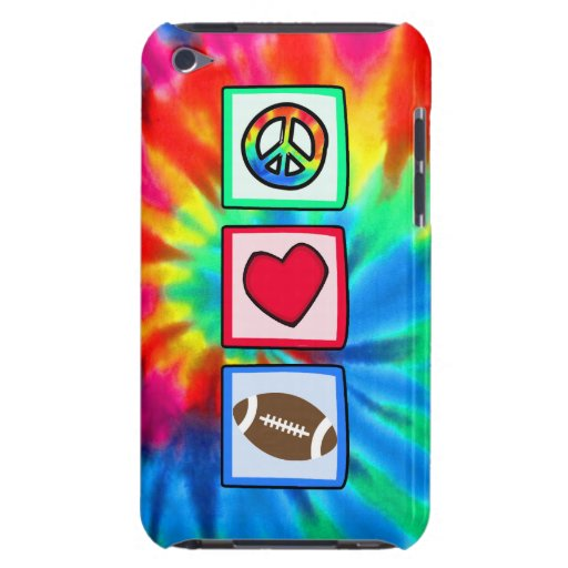 Peace, Love, Football Case-Mate iPod Touch Case