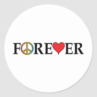 Peace Love Forever Round Sticker