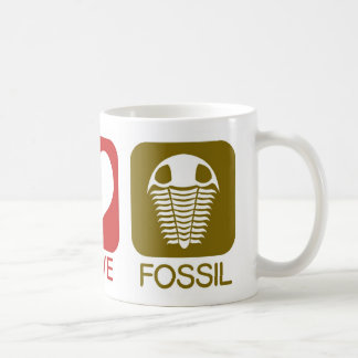 PEACE, LOVE, FOSSIL COFFEE MUG