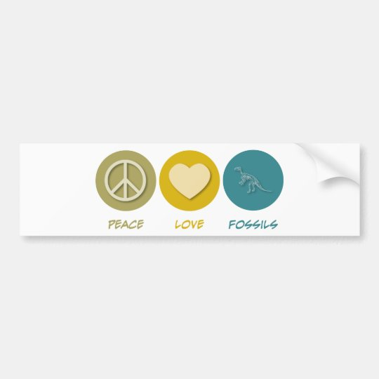 Peace Love Fossils Bumper Sticker
