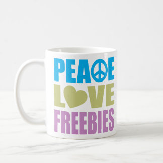 Peace Love Freebies Basic White Mug