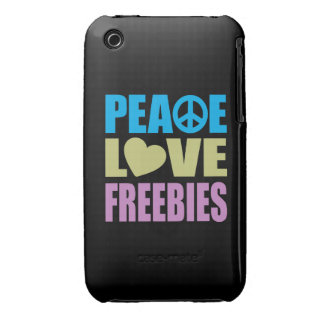 Peace Love Freebies iPhone 3 Cases