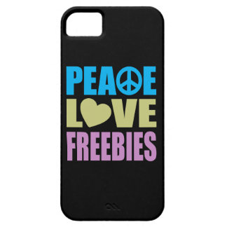 Peace Love Freebies iPhone 5 Cover
