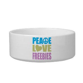 Peace Love Freebies Cat Food Bowls