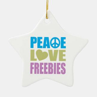 Peace Love Freebies Christmas Ornaments