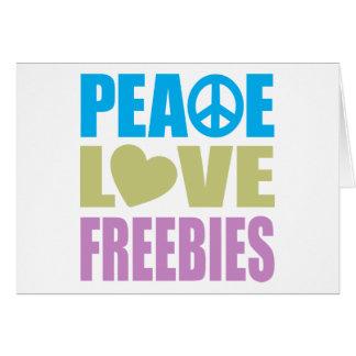 Peace Love Freebies Greeting Card