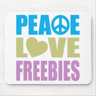 Peace Love Freebies Mouse Pad