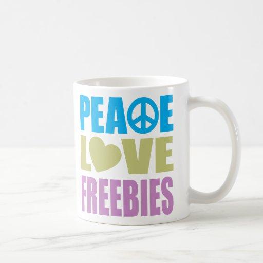 Peace Love Freebies Coffee Mugs