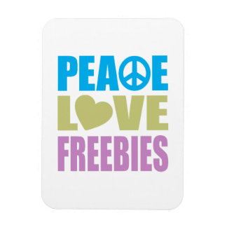 Peace Love Freebies Rectangular Magnet