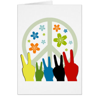 Peace Love Freedom Greeting Card