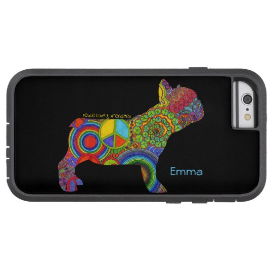 """Peace Love & Frenchies"" Pop Art iPhone Case"