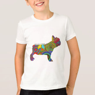 """Peace Love & Frenchies"" Pop Art Kids Tee"