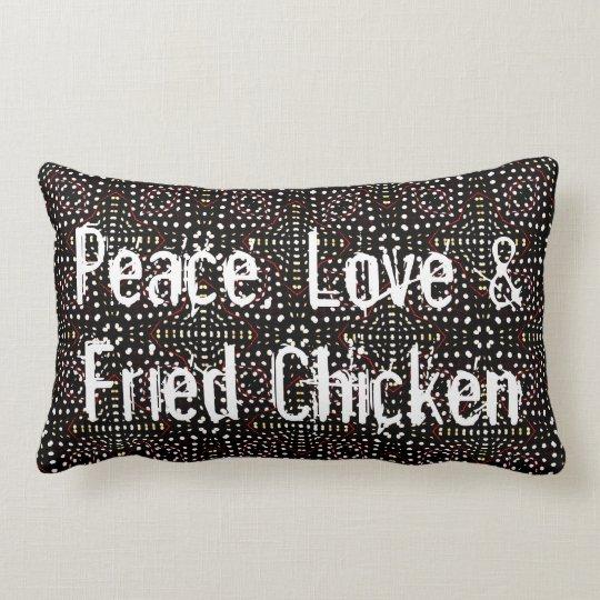 Peace, Love & Fried Chicken Lumbar Cushion