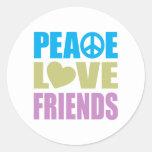 Peace Love Friends Sticker