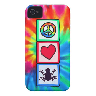 Peace, Love, Frogs iPhone 4 Cover