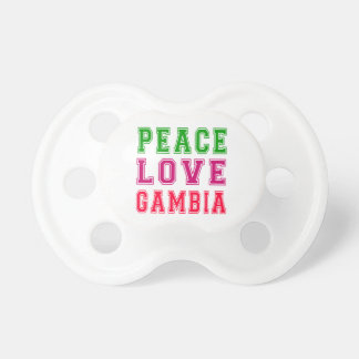 Peace Love Gambia. Pacifiers