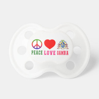 Peace Love Gambia Pacifier