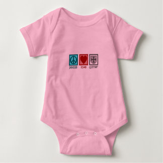 Peace Love Gamer Baby Bodysuit