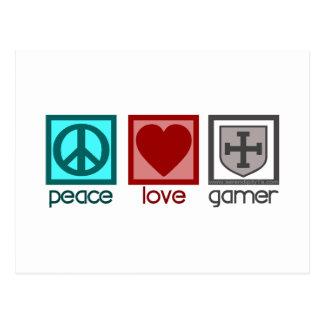 Peace Love Gamer Postcard