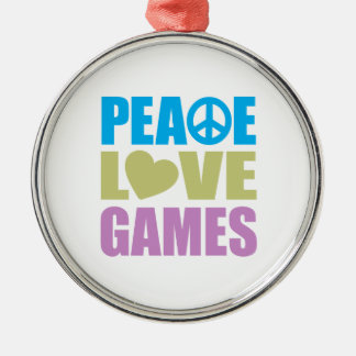 Peace Love Games Silver-Colored Round Decoration