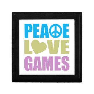 Peace Love Games Small Square Gift Box