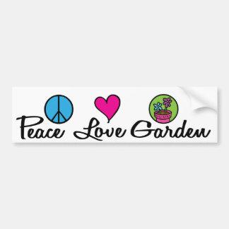 Peace. Love. Garden. Bumper Sticker