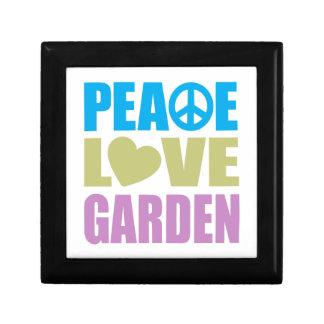 Peace Love Garden Small Square Gift Box