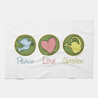 Peace Love Gardening Tea Towel