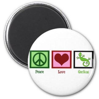 Peace Love Geckos Magnet